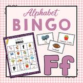 Letter F Bingo Game