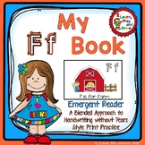 Letter F Emergent Reader for Alphabet Recognition, Rhymes, and Handwriting