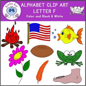 Letter F Clip Art {Beginning Sounds} Alphabet