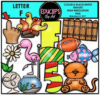 Letter F Clip Art Bundle {Educlips Clipart}