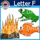 Letter F Clip Art (Fish, Fire, Frog, Flag, Flower, Feather)