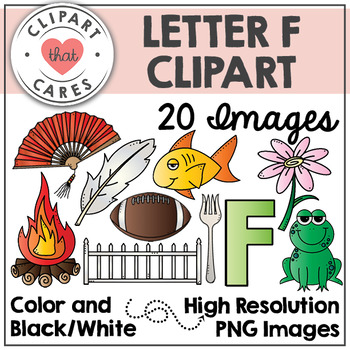 Letter F Alphabet Clipart by Clipart That Cares