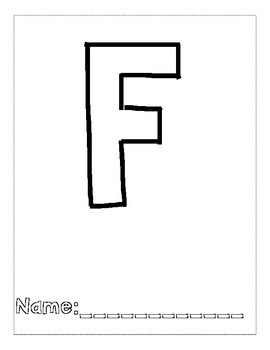 Letter F Color and Trace AlphaBook