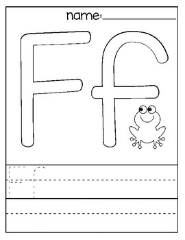 Letter F Coloring Page by Teacher Coloring Store | TpT