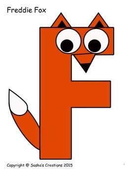 Letter F Craft: Freddie Fox Alpha Pal