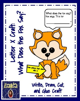 Letter F Craft:  What Does the Fox Say?