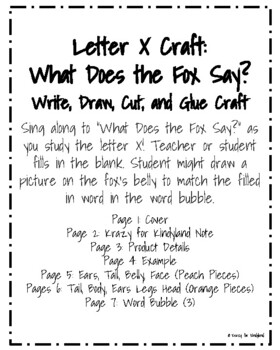 Letter X Craft:  What Does the Fox Say?