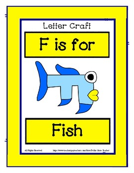 Letter F Craftivity - Fish - Zoo Phonics Inspired - Color & BW Versions