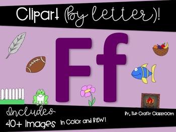 Letter F Digital Clipart