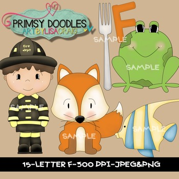 Letter F Early Learning Clipart