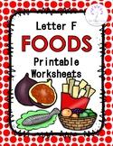 Letter F Foods Printable Worksheets