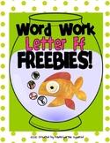 Letter F Freebies!