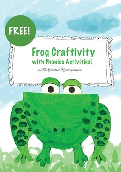 Letter F - Frog Craftivity with Phonics Activities FREE!