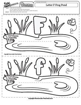 Letter F Frog Pond Match