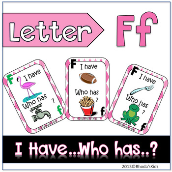 "Letter F  ""I have... Who has?"""
