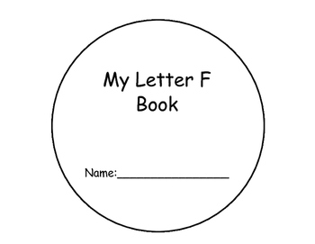 Letter F Interactive Book