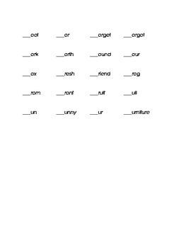 Letter F Kindergarten Fill in the Blank Sight Words