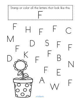 Alphabet F Letter of the Week Phonics Recognition, Sound, Tracing & Craftivities