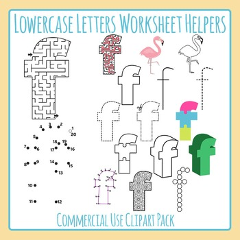 Letter F (Lowercase) Worksheet Helper Clip Art Set For Com