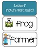 Letter F - Picture Word Cards