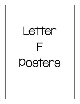 Letter F Posters