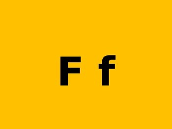 Letter F PowerPoint