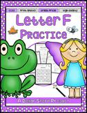 Letter F Practice Printables