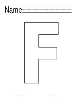 Letter 'F' Pre-K Packet
