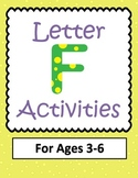 Letter F Activities- 46 PAGES! {Common Core}