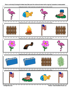 Letter F Reading Discrimination Strips for Fluency and Alphabet Recognition