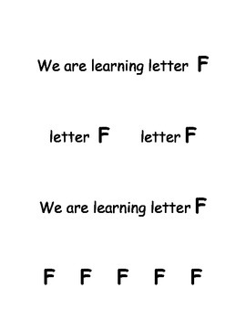 Letter F Song Book
