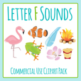 Letter F Sounds Clip Art Pack for Commercial Use