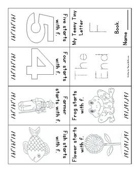Letter F, Teeny Tiny Book