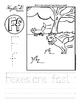 Letter F Trace and Write Worksheet Pack