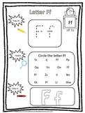 "Letter ""F"" Trace it, Find it, Color it.  Preschool printab"