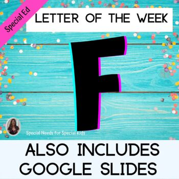 Letter of the Week Letter F Unit for Special Education