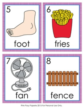 Letter F Words Write the Room Activity
