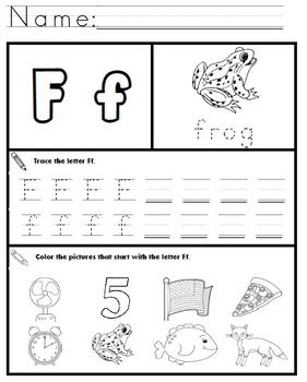 Letter F Worksheets by Kindergarten Swag   Teachers Pay ...