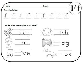 Letter F Worksheets!