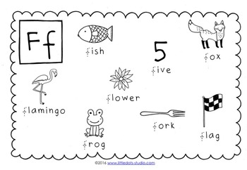 Letter F Activities and Worksheets by Little Dots | TpT