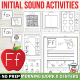 Letter F Worksheets, Letter F Activity, Initial F Words, L