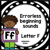 Letter F adapted book errorless learning FREEBIE