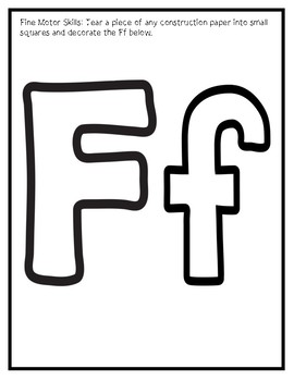Letter F from the Alphabet Mega Bundle/Letter of the Week