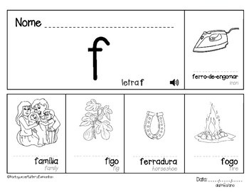 Letter F in Portuguese - Letra F