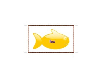Letter F word flahscards