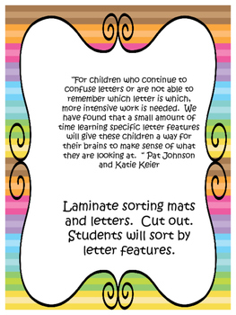 Letter Features for Letter Identification