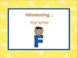 Letter Ff - Alphabet Lesson – Power Point – Interactive –