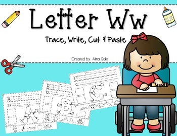 Beginning Sound Cut & Paste - Letter Ww