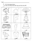 Letter Ff Words Coloring Worksheet