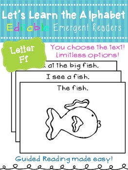 Letter Ff *Editable* Alphabet Emergent Reader